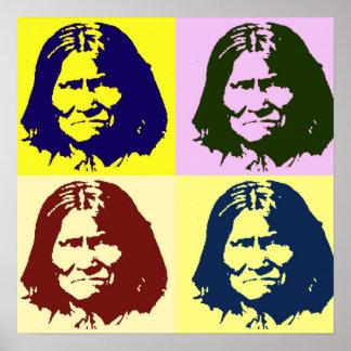 Poster de Geronimo del arte pop - combatiente de