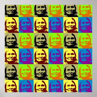 Poster de Geronimo del arte pop - símbolo de la