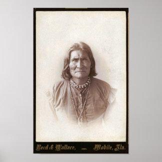 Poster de Geronimo del vintage Póster
