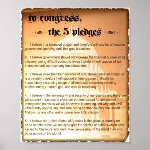 Poster de Glenn Beck de 5 compromisos