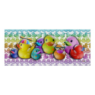 Poster de goma de Duckies, impresiones