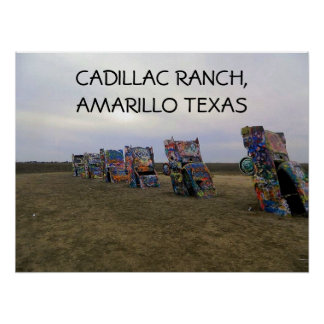 Poster de Graffite del rancho de Cadillac Póster