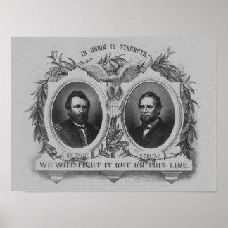 Poster de Grant y de la elección de Colfax Póster