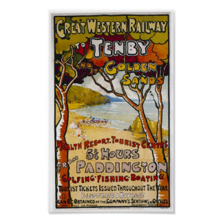 "Poster de Great Western ""Tenby"""