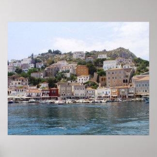 Poster de Grecia de la isla del Hydra