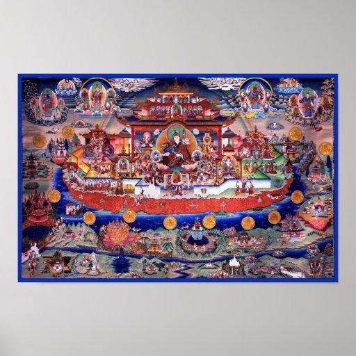Poster de Guru Rinpoche - Zangdokpalri