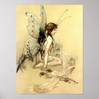 Poster de hadas 12x16 de la fantasía del ejemplo