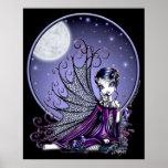 Poster de hadas adorable de la luna azul de Maggy