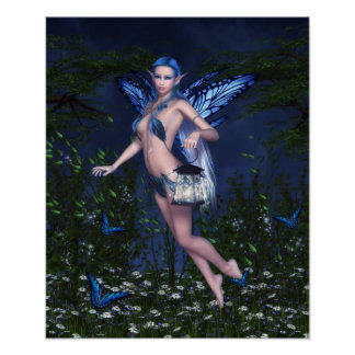 Poster de hadas azul