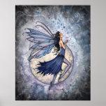 Poster de hadas azul de medianoche por Molly Harri