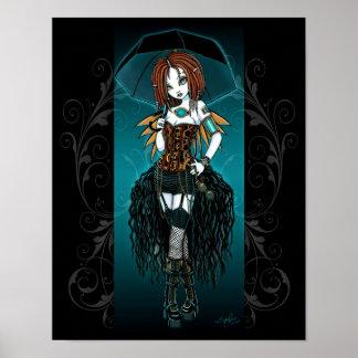 """Poster de hadas cibernético de Steampunk del """"Sama"""