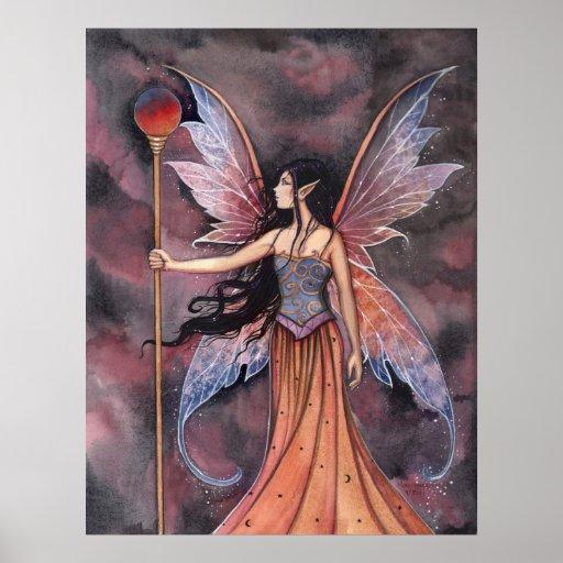 Poster de hadas de la bola de fuego por Molly Harr