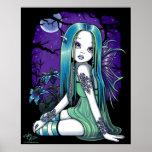 Poster de hadas del arte de Lilly de la luna gótic