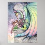 Poster de hadas del dragón por Molly Harrison