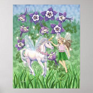 Poster de hadas del unicornio