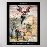 Poster de hadas gótico del unicornio