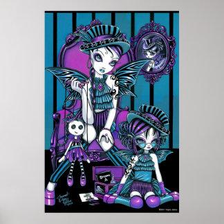 """Poster de hadas mágico """"encantado"""" de las costuras póster"""