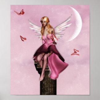 Poster de hadas rosado de la fantasía