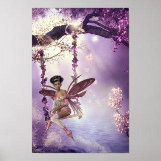 Poster de hadas rosado del oscilación