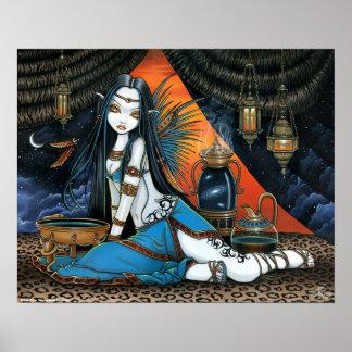 Poster de hadas sabio tribal celestial del ángel d póster