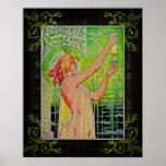 Poster de hadas verde del ajenjo