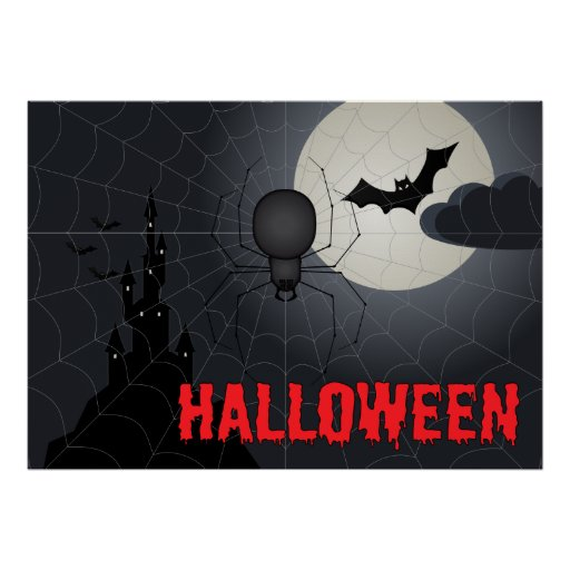Poster de Halloween con la araña