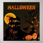 Poster de Halloween de la casa encantada