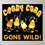 Poster de Halloween de las pastillas de caramelo d