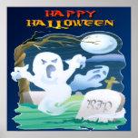 Poster de Halloween de los fantasmas del RASGÓN