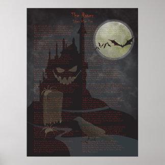 """Poster de Halloween """"del cuervo"""""""