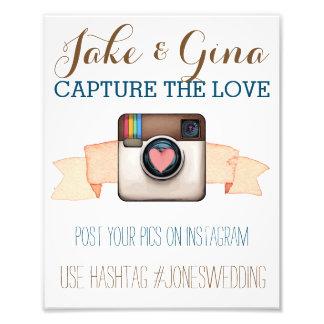 Poster de Hashtag de la acuarela de Instagram de Fotografías
