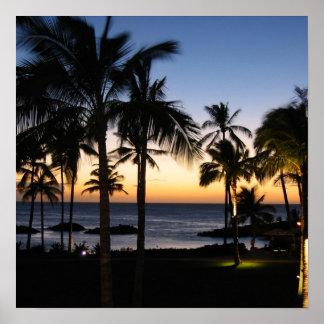 Poster de Hawaii de la bahía de Keauhou