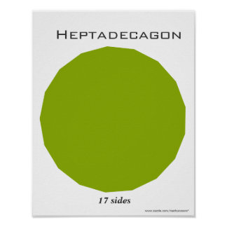 Poster de Heptadecagon del polígono