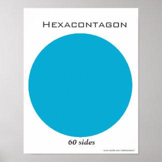 Poster de Hexacontagon del polígono