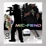 Poster de Hip Hop del demonio del Mic del mí soy r