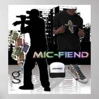 Poster de Hip Hop del demonio del Mic del mí soy r Póster