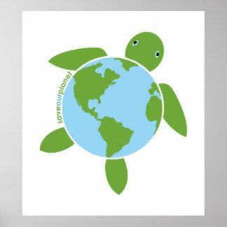 Poster de Honu del Día de la Tierra