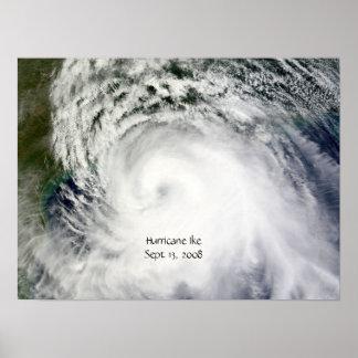 Poster de Ike del huracán (de sept. el 13 de 2008)