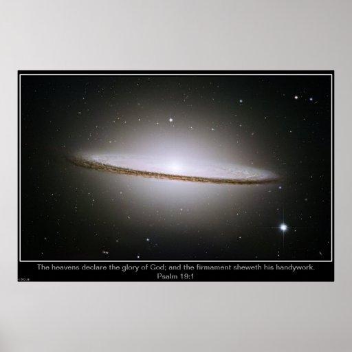 Poster de Inpirational de la galaxia del sombrero
