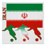Poster de Irán del fútbol