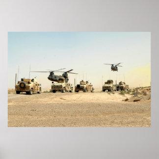Poster de Iraq de la operación de tierra