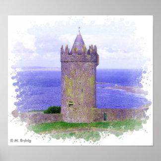 Poster de Irlanda del castillo de Doonagore