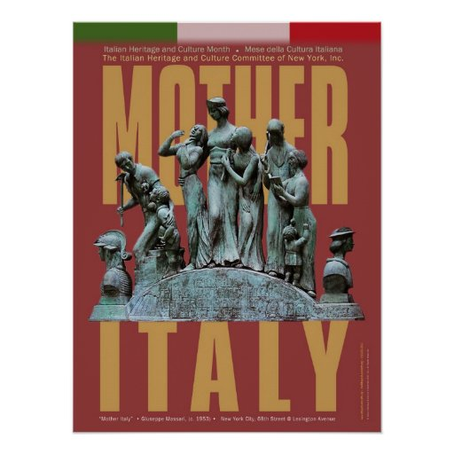 Poster de Italia de la madre