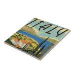 Poster de Italia del vintage Azulejos Cerámicos