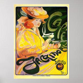 Poster de Jacqmotte del café
