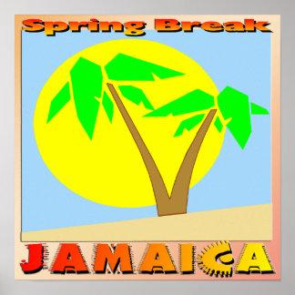 Poster de Jamaica de las vacaciones de primavera