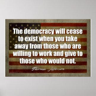 Poster de Jefferson: La democracia cesará