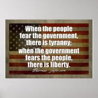 Poster de Jefferson: Tiranía contra libertad