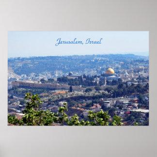 Poster de Jerusalén, Israel