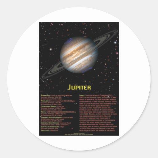 Poster de Júpiter Pegatina Redonda